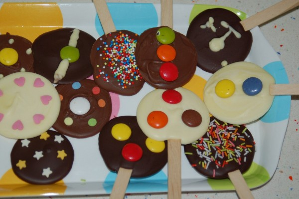 Receta de Piruletas de Chocolate