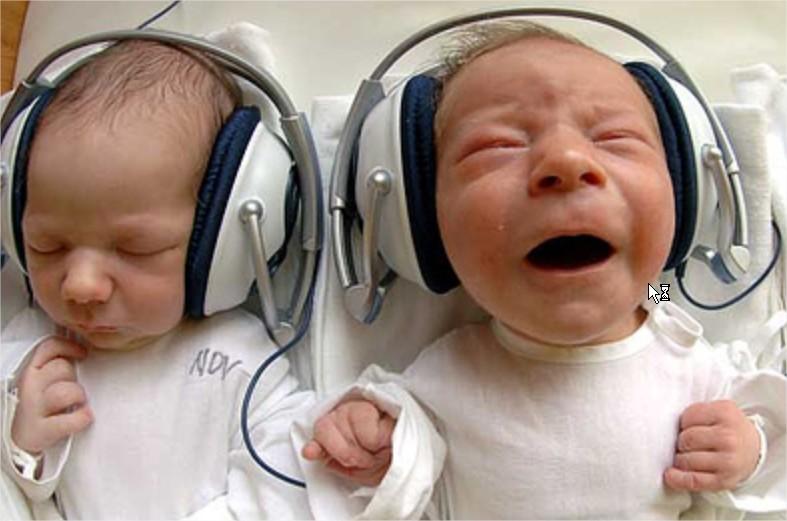 La música en el crecimiento de los bebés