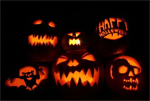 La calabaza de Halloween Beb feliz