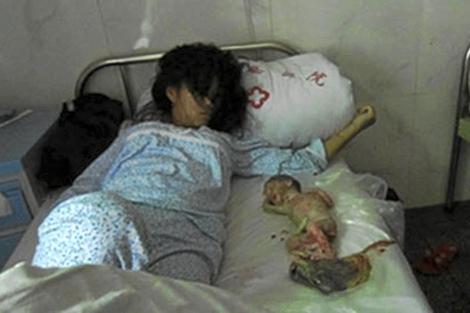 El gobierno chino obliga a una joven a abortar