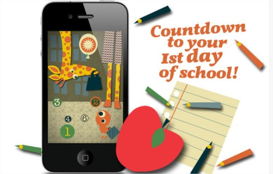 La vuelta al cole con First Day of School Countdown
