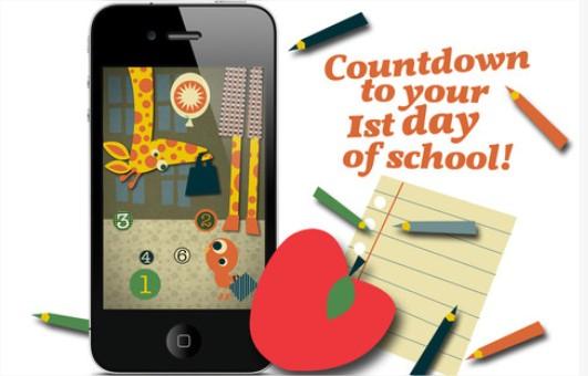 La vuelta al cole con First Day of School Countdown