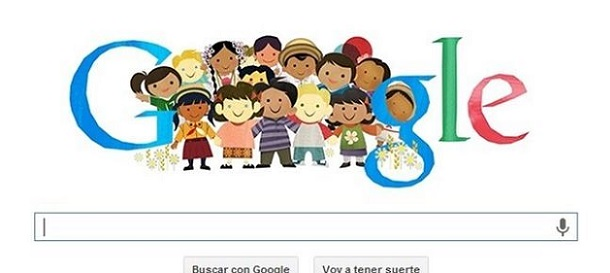 Google crea un doodle para el Día Mundial del Niño