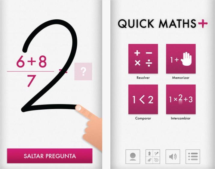 Practicar cálculo mental con Quick Math