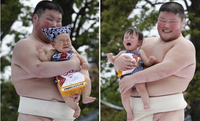 Concurso de llanto de bebés en Japón