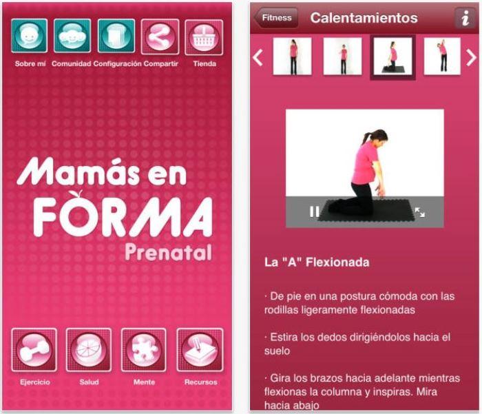 mamas en forma app embarazada