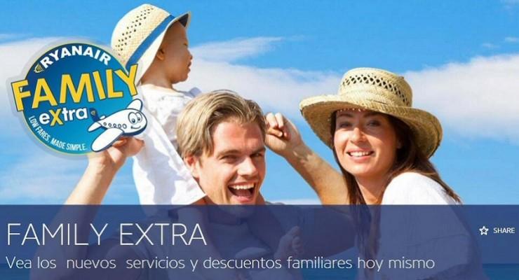 Viajes con niños más baratos gracias a Family Extra Ryaner